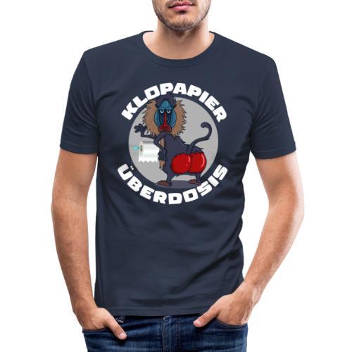 Lockdown Quarantäne Home Office Geschenk Klopapier - Männer Slim Fit T-Shirt