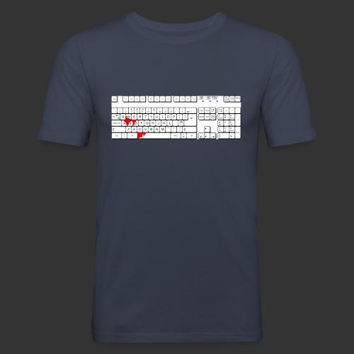 Bluttastatur - Männer Slim Fit T-Shirt