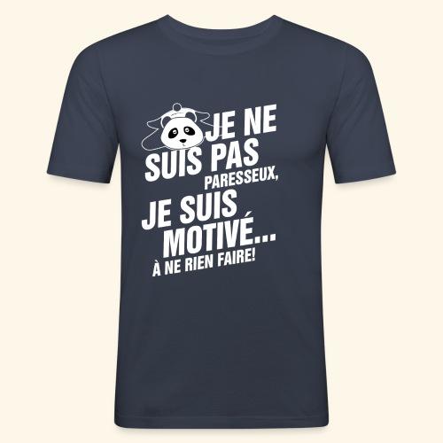 not lazy 2 - T-shirt près du corps Homme