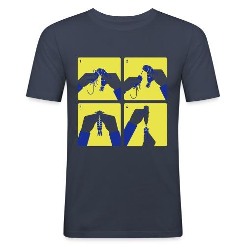 peel shrimp - Men's Slim Fit T-Shirt