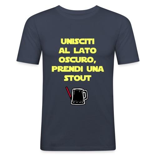 Birra - Il lato oscuro della birra - Giallo - Maglietta aderente da uomo
