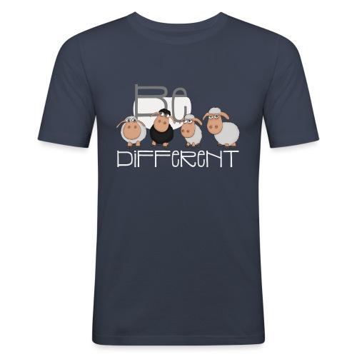 Coole Be different Schafe Gang - Gute Laune Schaf - Männer Slim Fit T-Shirt
