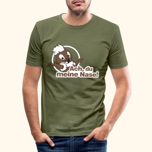 Pittiplatsch Ach, du meine Nase 2D - Männer Slim Fit T-Shirt