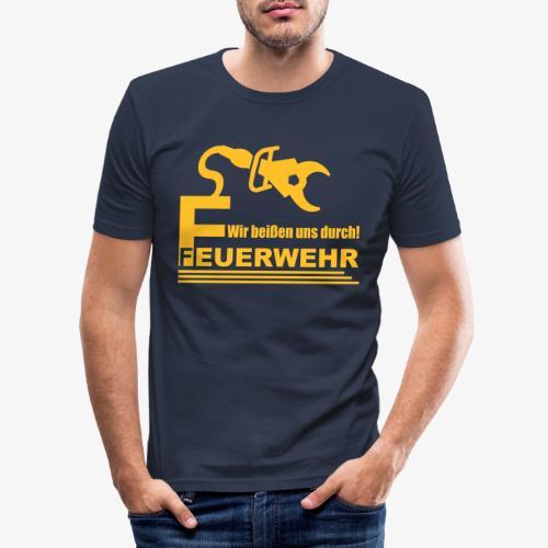 Wir beißen uns durch - Männer Slim Fit T-Shirt