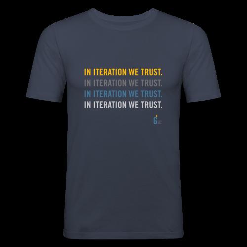 In iteration we trust II - Men's Slim Fit T-Shirt
