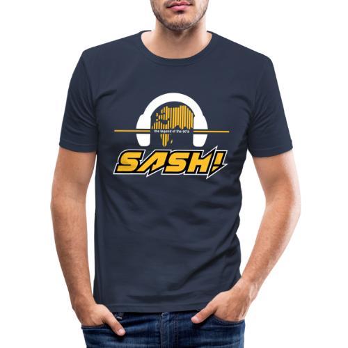 SASH! Logo 2020 Headfone - Men's Slim Fit T-Shirt