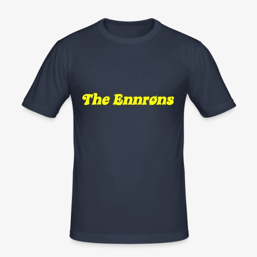 TheEnnrons yellow text - Mannen slim fit T-shirt