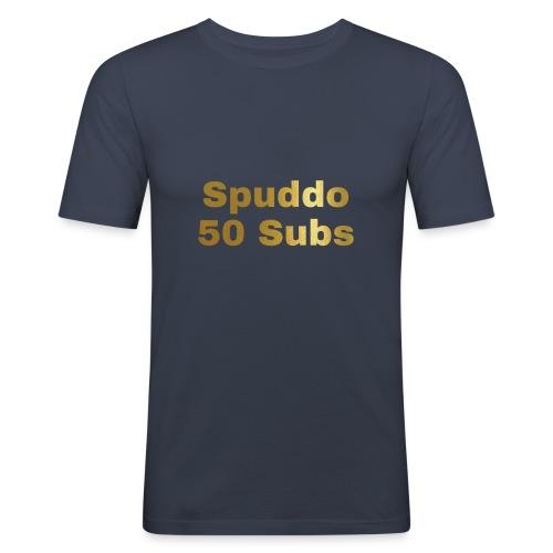 Spuddo 50 Subs Merch - Men's Slim Fit T-Shirt