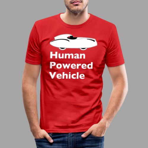 Quattrovelo Human Powered Vehicle white - Miesten tyköistuva t-paita