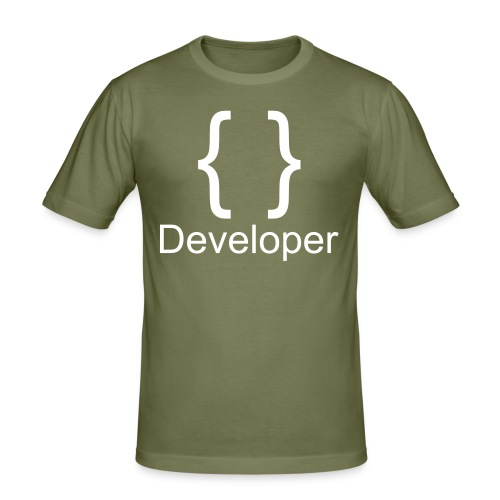 Developer - Männer Slim Fit T-Shirt