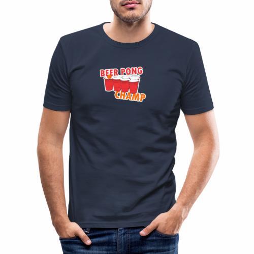 Beer Pong Champion - Männer Slim Fit T-Shirt