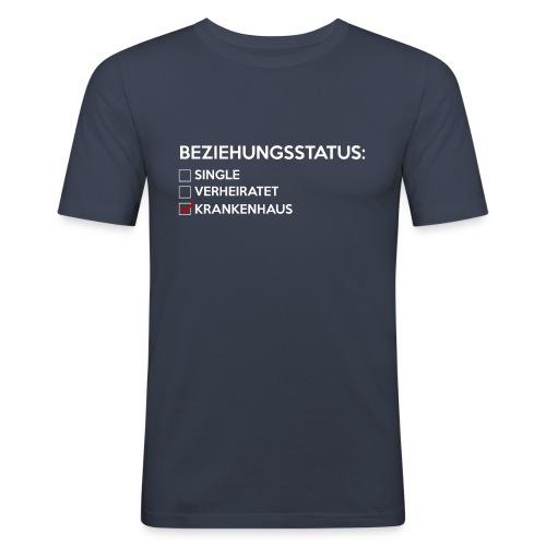 Beziehungsstatus - Krankenhaus - Männer Slim Fit T-Shirt