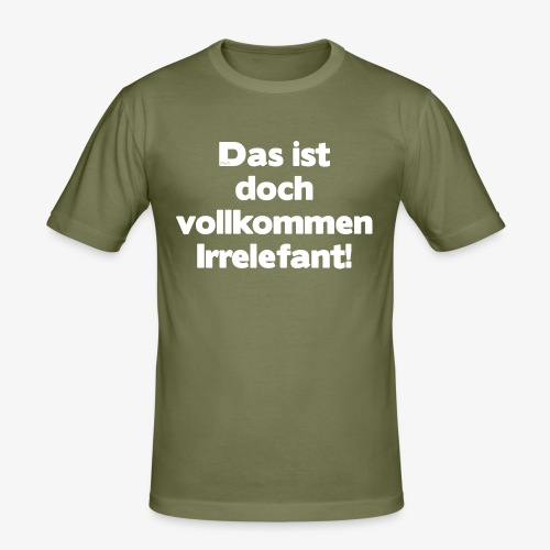 Der Irrelefant - Männer Slim Fit T-Shirt