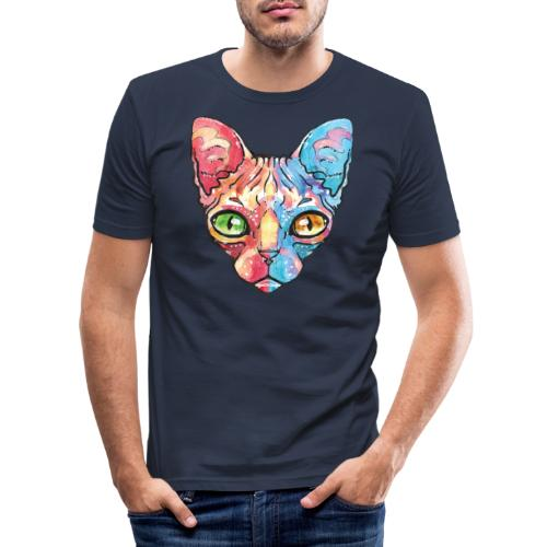 EgyptianCat - Männer Slim Fit T-Shirt