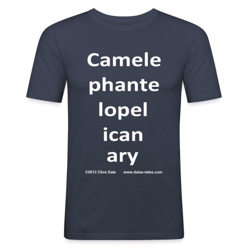camelepha 5lines white - Men's Slim Fit T-Shirt