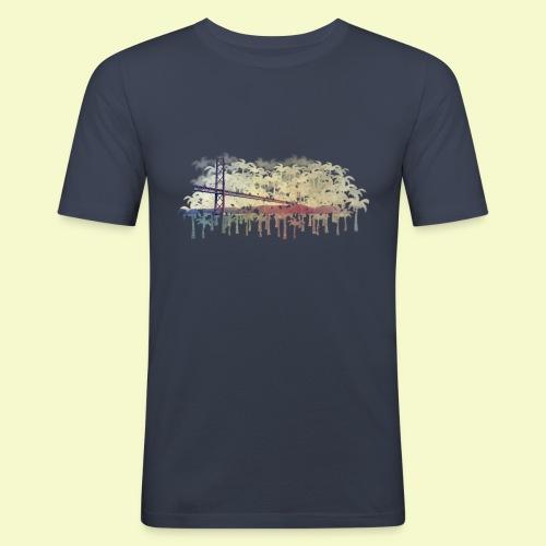 | Almada Brücke Palmen | - Männer Slim Fit T-Shirt