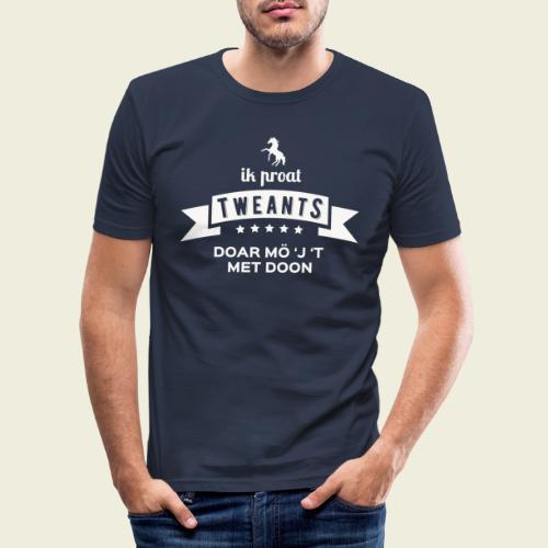 Ik proat Tweants...(lichte tekst) - Mannen slim fit T-shirt