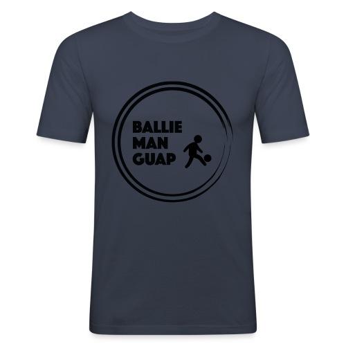 BalliemanGuap (Black) - Mannen slim fit T-shirt