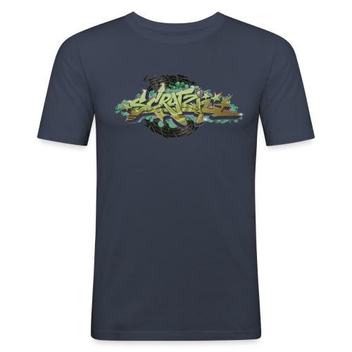 Scratch Graffiti Style - Herre Slim Fit T-Shirt