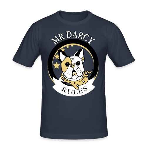 MR DARCY RULES - Männer Slim Fit T-Shirt
