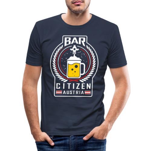 BarCitizenAustria Logo - Männer Slim Fit T-Shirt