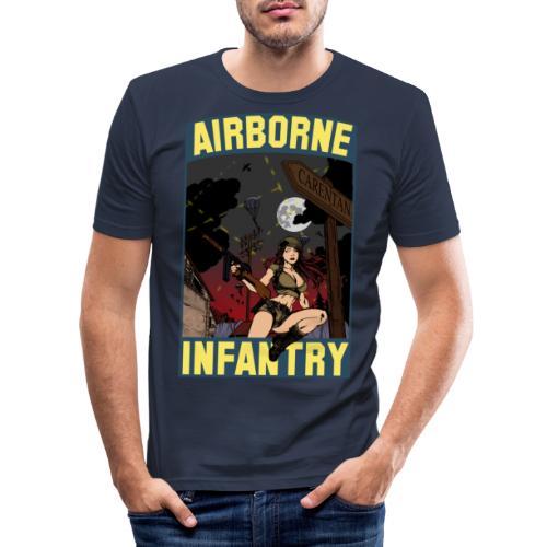 Airborne Infantry - Männer Slim Fit T-Shirt