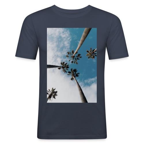 palm-tree-1209536_1920 - Slim Fit T-shirt herr