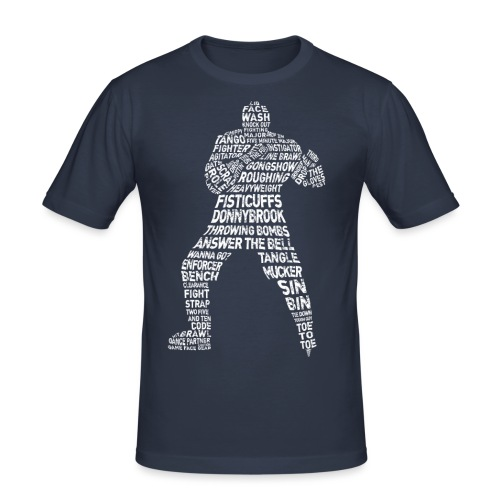 Hockey Enforcer Lingo (white print) - Men's Slim Fit T-Shirt