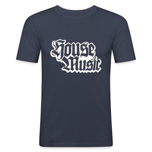 housemusic - Mannen slim fit T-shirt