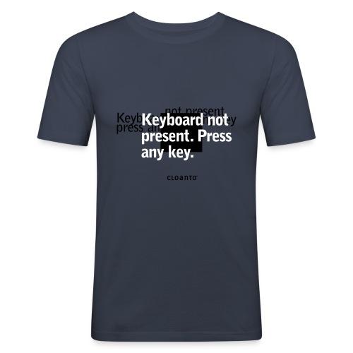 0x03 keyboard not present - Men's Slim Fit T-Shirt
