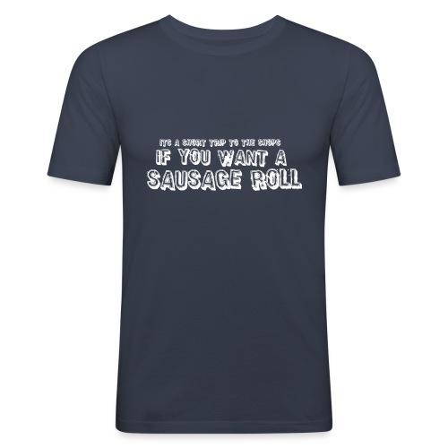 Short Trip for a Sausage Roll - Men's Slim Fit T-Shirt