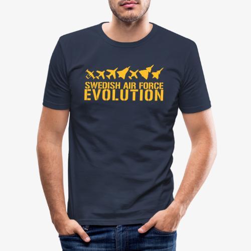 Swedish Air Force Evolution - Slim Fit T-shirt herr