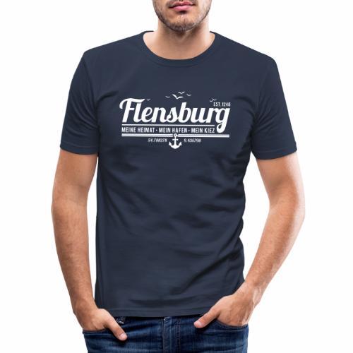 Flensburg - meine Heimat, mein Hafen, mein Kiez - Männer Slim Fit T-Shirt