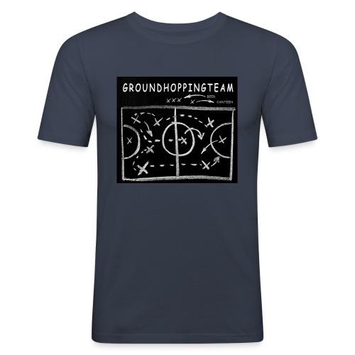 groundhopping canteen beer schwarz weiss - Männer Slim Fit T-Shirt