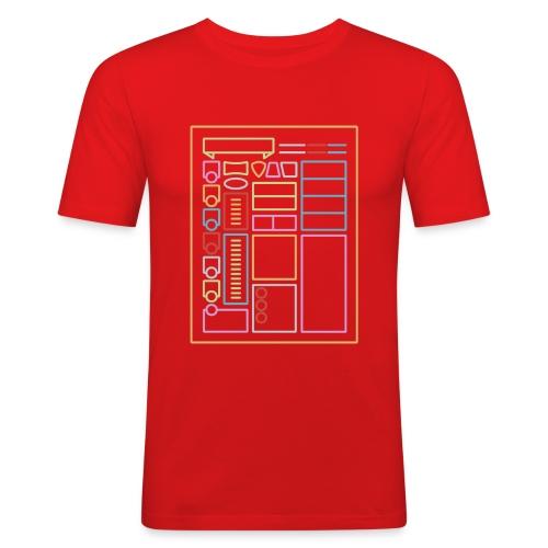 Dnd-merkkilehti - DnD Dungeons & Dragons D & D - Miesten tyköistuva t-paita