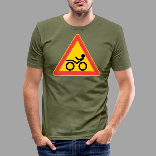 Traffic sign Recumbent - Miesten tyköistuva t-paita