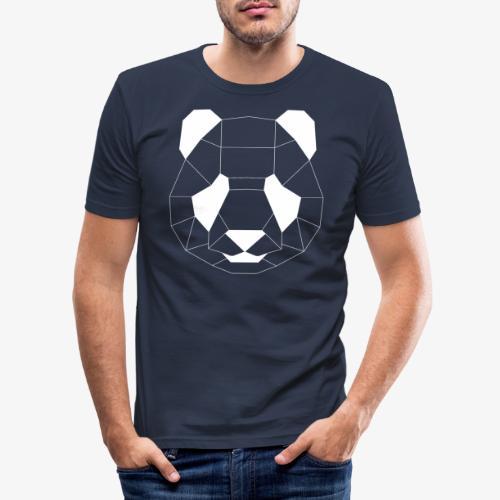 Panda Geometrisch weiss - Männer Slim Fit T-Shirt