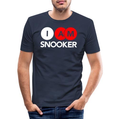 I AM SNOOKER - Men's Slim Fit T-Shirt