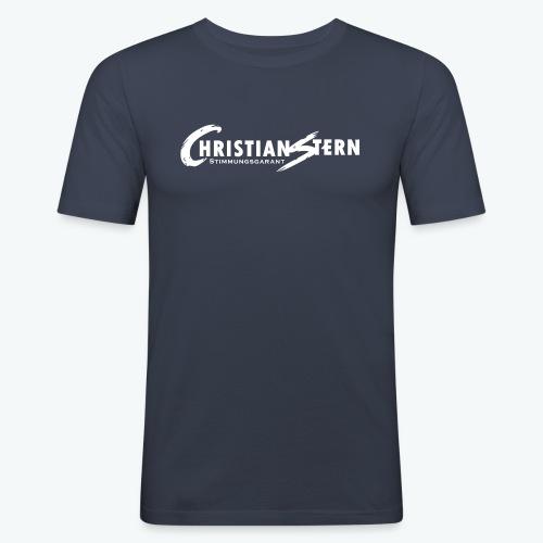 Christian Stern Logo Weiß - Männer Slim Fit T-Shirt