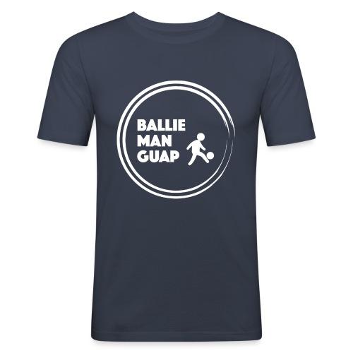 BalliemanGuap (White) - Mannen slim fit T-shirt