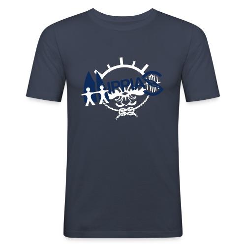 hippias logo - Mannen slim fit T-shirt