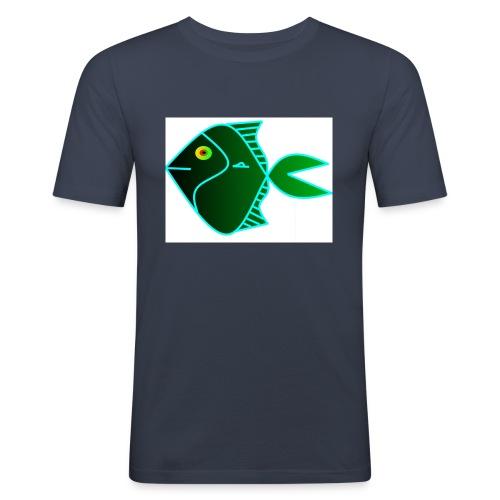 Green anglefish - Mannen slim fit T-shirt