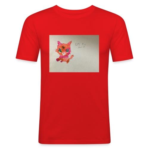 Little pet shop fox cat - Men's Slim Fit T-Shirt