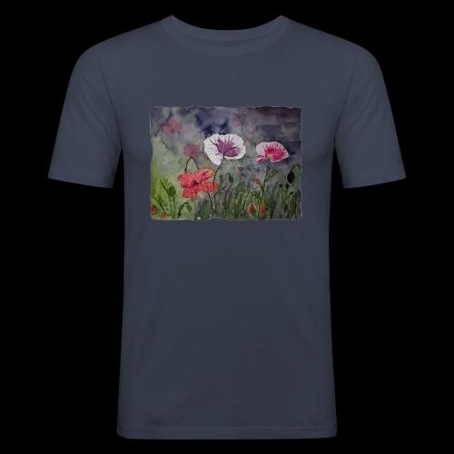 Mohnblume - Männer Slim Fit T-Shirt