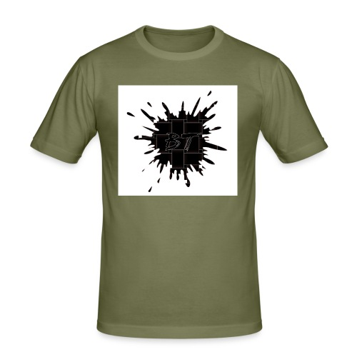 Blacktuber Splash Logo - Mannen slim fit T-shirt
