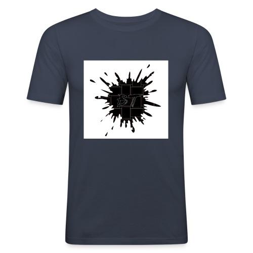 Blacktuber Splash Logo - Mannen slim fit T-shirt