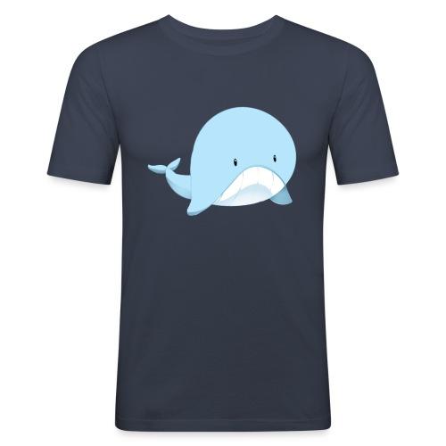 Whale - Maglietta aderente da uomo
