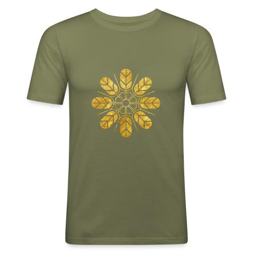 Inoue clan kamon in gold - Men's Slim Fit T-Shirt
