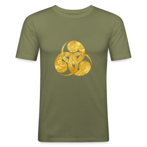 Tadpole Mon Japanese samurai clan - Men's Slim Fit T-Shirt