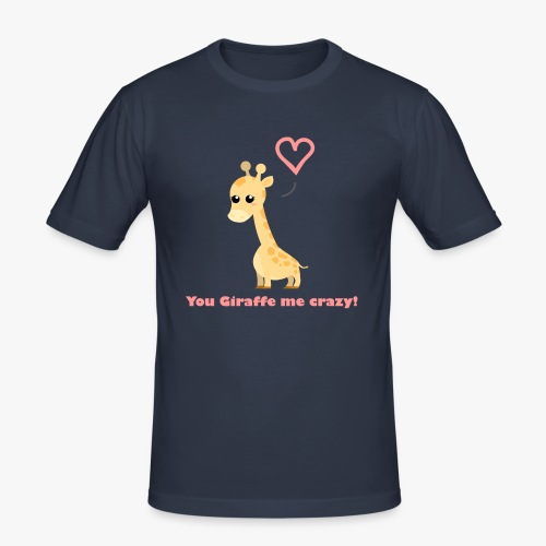 Giraffe Me Crazy - Herre Slim Fit T-Shirt